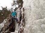 Jennifer Deans on an unnamed climb